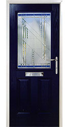 Composite front door - Alpine Blue