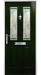 Composite front door - Alpine Green