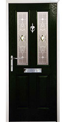 Composite front door - Californian Green