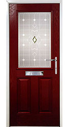 Composite front door - Californian Red