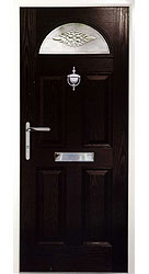 Composite front door - Canyon Black