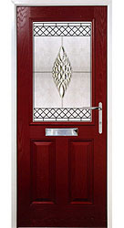 Composite front door - Canyon Red