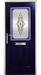 Composite front door - Coral Blue