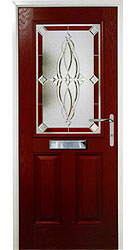 Composite front door - Coral Red