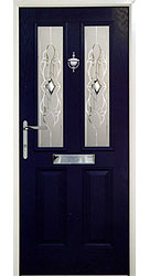 Composite front door - Glacier Blue