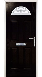 Composite front door - Mediterranean Black