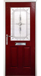 Composite front door - Mediterranean Red