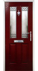 Composite front door - Mountain Red