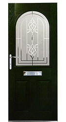 Composite front door - Ocean Green