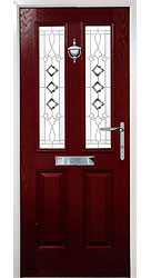 Composite front door - Spanish Red