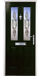 Composite front door - Sunset Green