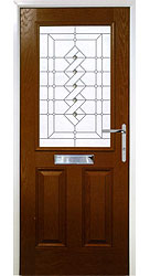 Composite front door - Tuscan Oak
